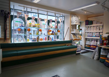 Axe Valley Veterinary Group, Cheddar - Seating & Merchandise Area